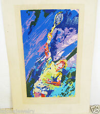 LEROY NEIMAN SERIGRAPH TENNIS CLASSIC SERVE SIGNED LIMITED EDITION 205/300 1974