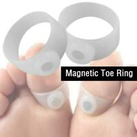 Foot Massage Weight Loss Ring Magnetic Silicone Toe Reduce M6I0 Q7D2 P8Y8