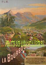 """""""Sncf"""" PLM - La Bourboule  - tourisme - affiche plastifiée"""