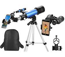 Best Travel Scope 70mm Refractor Telescope amp10X50 Full-size Binocular Backpack