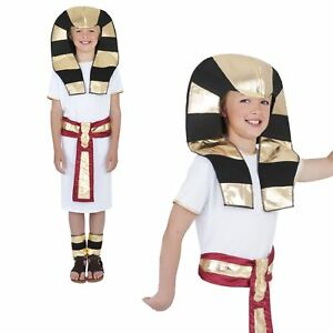 Kids Boys Ancient Egyptian Pharaoh King Historical Book Day Fancy Dress Costume