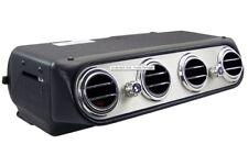 Under Dash Heat & Cool Inside Unit Four Round Vents Aluminum Faceplate 3 Speed