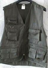 Crane Multi Pocket Utility Vest Khaki Waistcoat Fishing Travelling Hiking 42/44