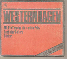 """WESTERNHAGEN """"Mit Pfefferminz... / Sekt oder Sleters / Stinker"""" 3CD Slipcase BOX"""