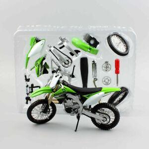 Maisto 1:12 Kx450f Assembly Kawasaki Dirt Motocross Motorcycle Model Diy Bike