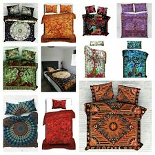 Indian Mandala Pattern Single Double Coloured Bedding Duvet Bohemian Cover Throw