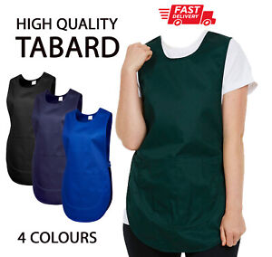 PLAIN NoText TABARD Work Wear Uniform Industrial Cleaning Clothing House Apron
