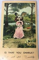 Postcard Couple Is That You Charlie? Guess Who Romance Posted 1908 w/ Message