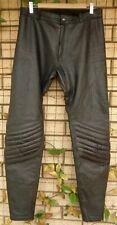 Walden Miller Black Leather Motorcycle Bespoke Pants Sizing in Description