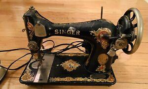 1924-1926 Antiques SINGER SEWING MACHINE  Not Testing