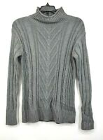 J Crew Womens Mock Neck Cable Knit Sweater Long Sleeves Pullover Cotton XS $140