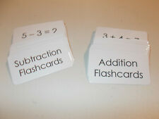 100 laminated Math Addition and Subtraction Flash Cards Combination Set. Teach