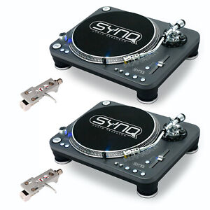 2x SYNQ X-TRM-1 Profi-Turntable + Audio Technica Systems Plattenspieler XTRM 1
