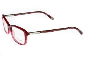 New Tiffany & Co. TF 2075 8145 Transparent Red RX Eyeglasses Frames 53mm Italy