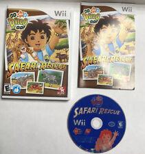 Go Diego Go Safari Rescue Nintendo Wii 2007 Video Game Case Manual