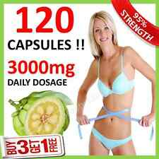 120 GARCINIA CAMBOGIA Capsules ◆◆ 3000mg Daily Natural WEIGHT LOSS Slimming Aid
