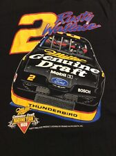 MENS VINTAGE 90'S BLACK RUSTY WALLACE NASCAR RACING GRAPHIC SHIRT SIZE XL