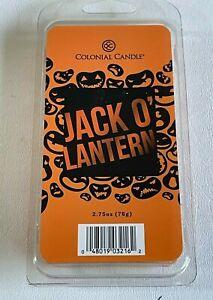 Colonial Candle Jack O' Lantern Candle Wax Melts Halloween Pumpkin NIP