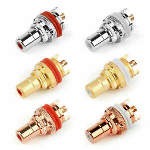 RCA Female Socket Chassis High-Quality Connector Phono Copper Jack Amp HiFi UE