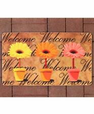 PRINTED WELCOME MAT, COLORFUL, BRIGHT, WEATHER RESISTANT, CHEERY DOOR MAT