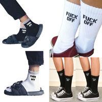 Womens Mens Ankle Letter Print Design F-Off Pattern Funny Sport Socks Gifts UK