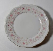 """4 Mitterteich LADY CLAIRE Pink Roses, Gold Trim 6-3/4"""" BREAD & BUTTER PLATES"""