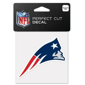 """NEW ENGLAND PATRIOTS PERFECT CUT DECAL 4""""X4"""" FOR WINDOWS PHONE LAPTOP COVERS"""