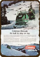 1970 COLEMAN SKIROULE Snowmobile Snow Machine Vintage Look REPLICA METAL SIGN