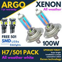 H7 100w Xenon White All Weather 501 Led Side light Headlight 499 Car Bulbs 12v