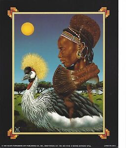 Ethnic Rendille African Tribal Woman And Crowned Crane Print 8X10 Still 1997