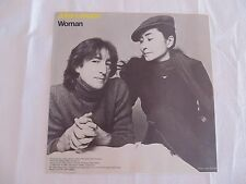 "JOHN LENNON  ""WOMAN"" PICTURE SLEEVE ONLY!! ABOLUTELY MINT!! PERFECT!!"