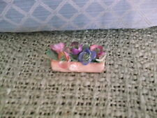 "Nice little piece of Coalport - 3"" x 2""  flowers in a log - a few nicks"