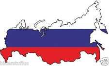 RUSSIAN MAP FLAG BUMPER STICKER LAPTOP STICKER TOOL BOX STICKER HARD HAT STICKER