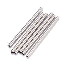 50pcs 304 Stainless Steel Tube Metal Beads Straight Smooth Loose Spacer 1.5x25mm