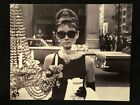 "10"" Audrey Hepburn Poster Card Photo Art Print Vtg Hollywood Movie Star Tiffanys"