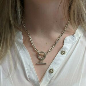 A Fully Hallmarked Sterling Silver (925) Albert Neckchain with T-Bar