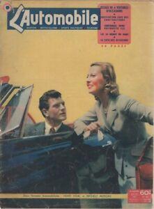 L'AUTOMOBILE 63 1951 24 HEURES DU MANS INDY 500 DB PANHARD 750 SPORT PEUGEOT 202