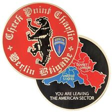 """ARMY BERLIN BRIGADE CHECKPOINT CHARLIE BERLIN 1.75""""  CHALLENGE COIN"""