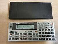Pocket Computer SHARP PC-1450 mit RAM Card CE-211M, BASIC Calculator #757
