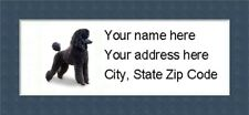 """Poodle Return Address Labels  - Personalized """"BUY 3 GET ONE FREE"""""""
