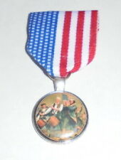 Liberty Freedom Patriot Medal Badge Pin Usa July Parade Drummer Boy Revolution I