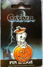 RARE 90's VTG NOS CASPER The FRIENDLY GHOST PIN Badge Dufort & Sons Halloween