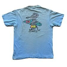 VINTAGE G&S Ratgear Gordon & Smith 1980's blue Surf skateboarding RARE T-Shirt