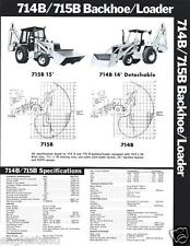 Equipment Brochure - Allis-Chalmers - 714B 715B - Backhoe Loader c1980  (E2662)