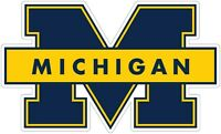 """You Choose Size 2/""""-28/"""" University Of Michigan Wolverines Color Vinyl Decal"""