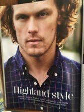 British GQ Magazine 2017 Sam Heughan Outlander Photo Shoot for Barbour