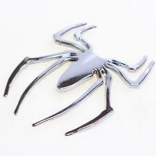 Chrom Aufkleber Auto 3D Spider Spinne selbstklebend Silber 1pc 2017