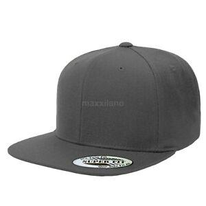 Snapback Hat Classic Hip Hop Style Flat Brim Baseball Cap Solid Color Blank Hats
