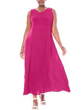 Crinkle Maxikleid pink Sommerkleid Plus size Gr.44/46-54/56