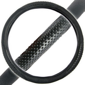 Car Steering Wheel Cover for Sedan SUV Truck Massage Grip Snug Fit Black